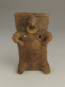 Image of Seated Slab Pottery Figure
