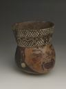 Image of Polychrome Pottery Trophy Head Vessel