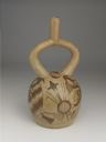 Image of Pictorial Stirrup Spout Pottery Vessel