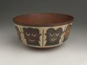 Image of Polychrome Pictorial Pottry Bowl