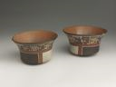 Image of Matching Polychrome Pottery Bowls