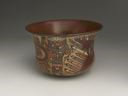 Image of Polychrome Pictorial Pottery Bowl