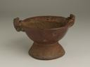 Image of Painted Pedestal Pottery Bowl