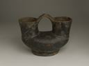 Image of Double Spouted Blackware Pottery Vessel