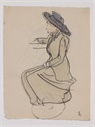 Image of Seated Woman in Profile