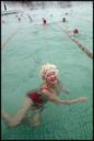Image of Smiling woman swimming in pool, Chelyabinsk, Russia