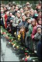 Image of Visitors wait in long lines to see the Tomb of the Unknown Soldier at the Kremlin, Moscow, Russia