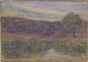 Image of [Landscape with Stream, Tree and Hills]