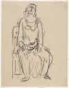 Image of [Seated Woman with Cat]