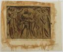 "Image of Watercolor book illustration, ""The Expulsion of Adam and Eve - Design for doors at the Trinity Church, New York"""