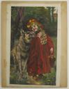 Image of Watercolor book ilustration of Red Riding Hood