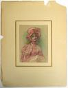 Image of Watercolor book illustration of a girl in pink
